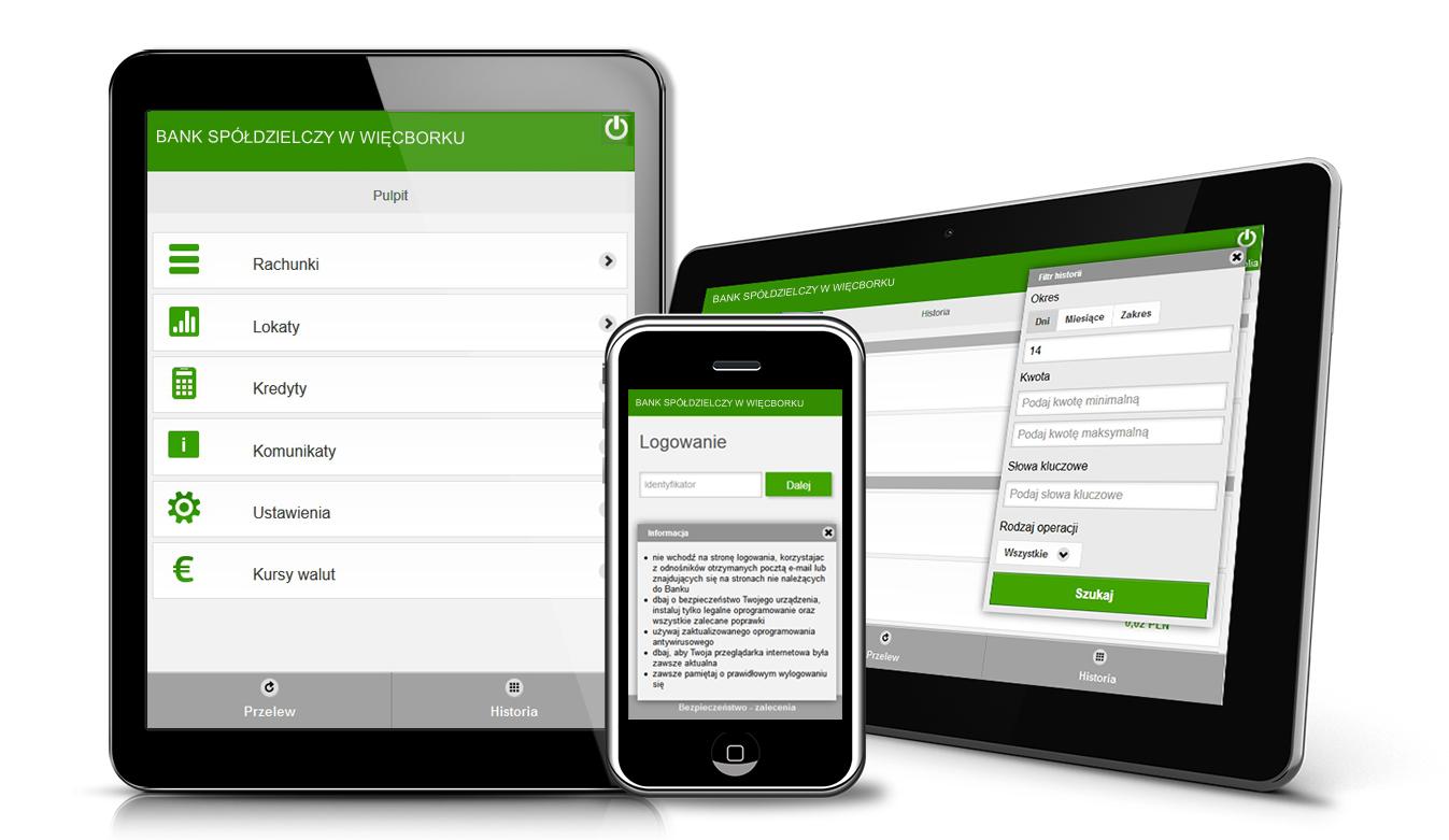 IB wersja mobilna na telefon bankowość mobilna